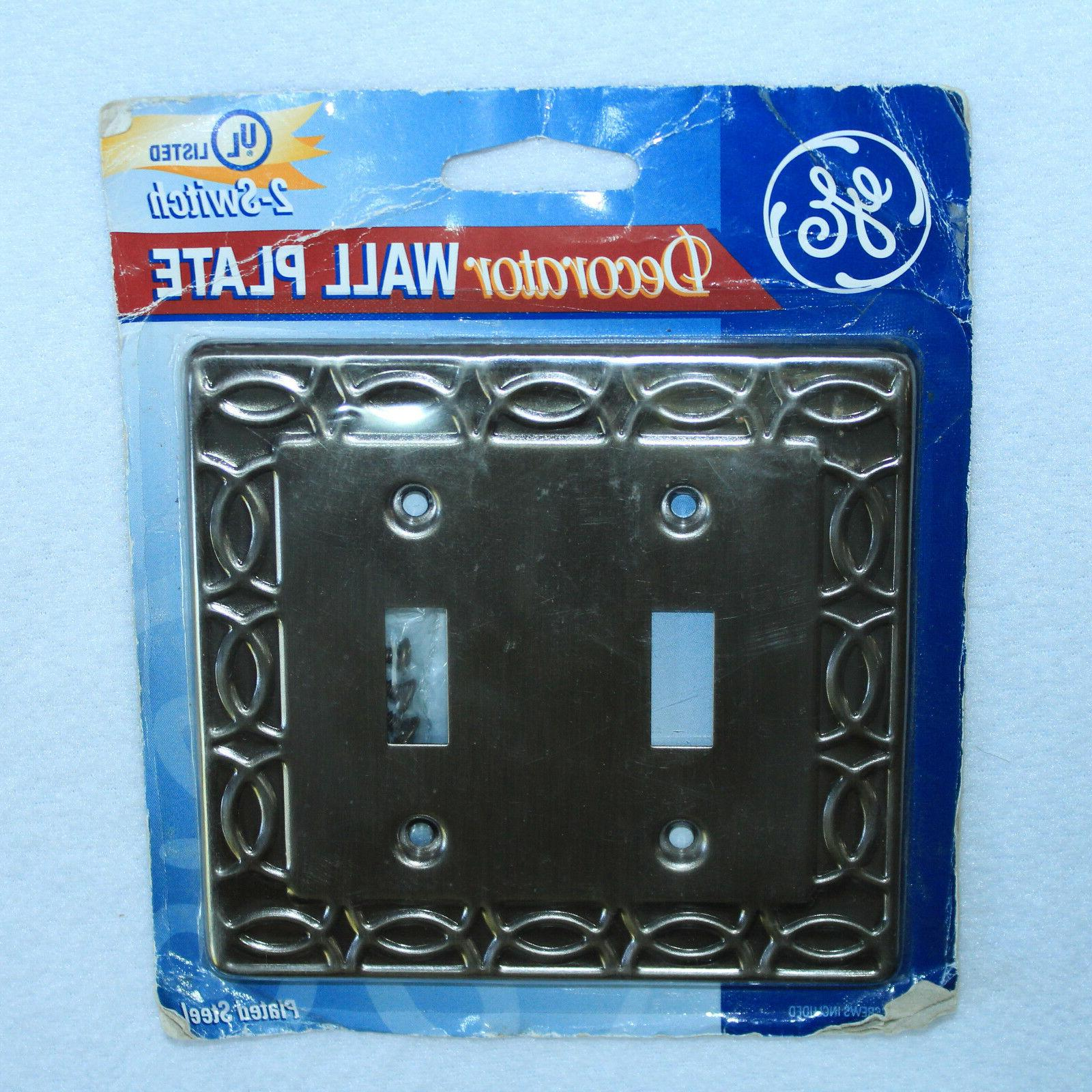 NEW SEALED GE Decorator Wall Plate Electric Power Light 2-Sw