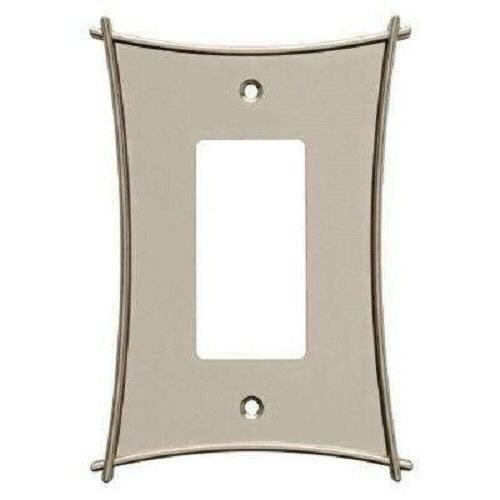 Nickel Decorator Wall Plate Bellaire Brainerd W23367