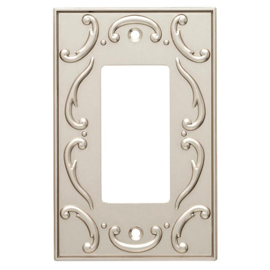 nickel decorator wall plate french lace w10373