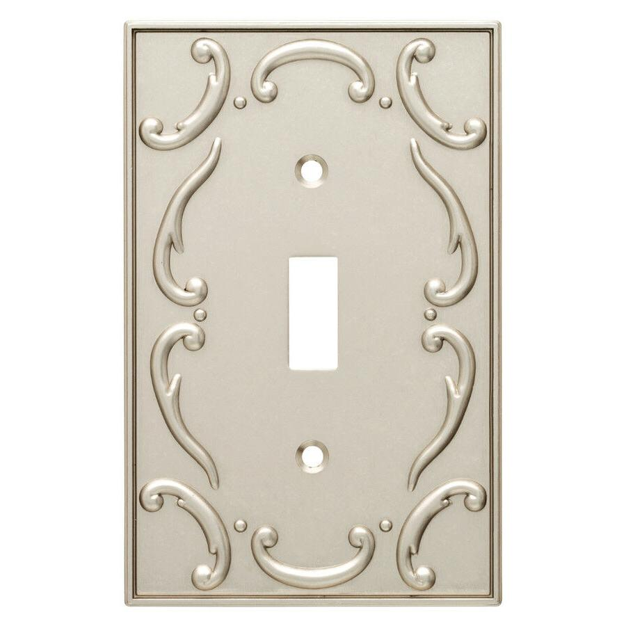Nickel Switch Plate French Lace Brainerd W10370