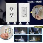 Night Angel Wall Outlet Cover plate Plug Cover With LED Ligh