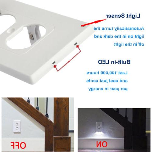 Night Outlet Cover plate With LED Lights Plug