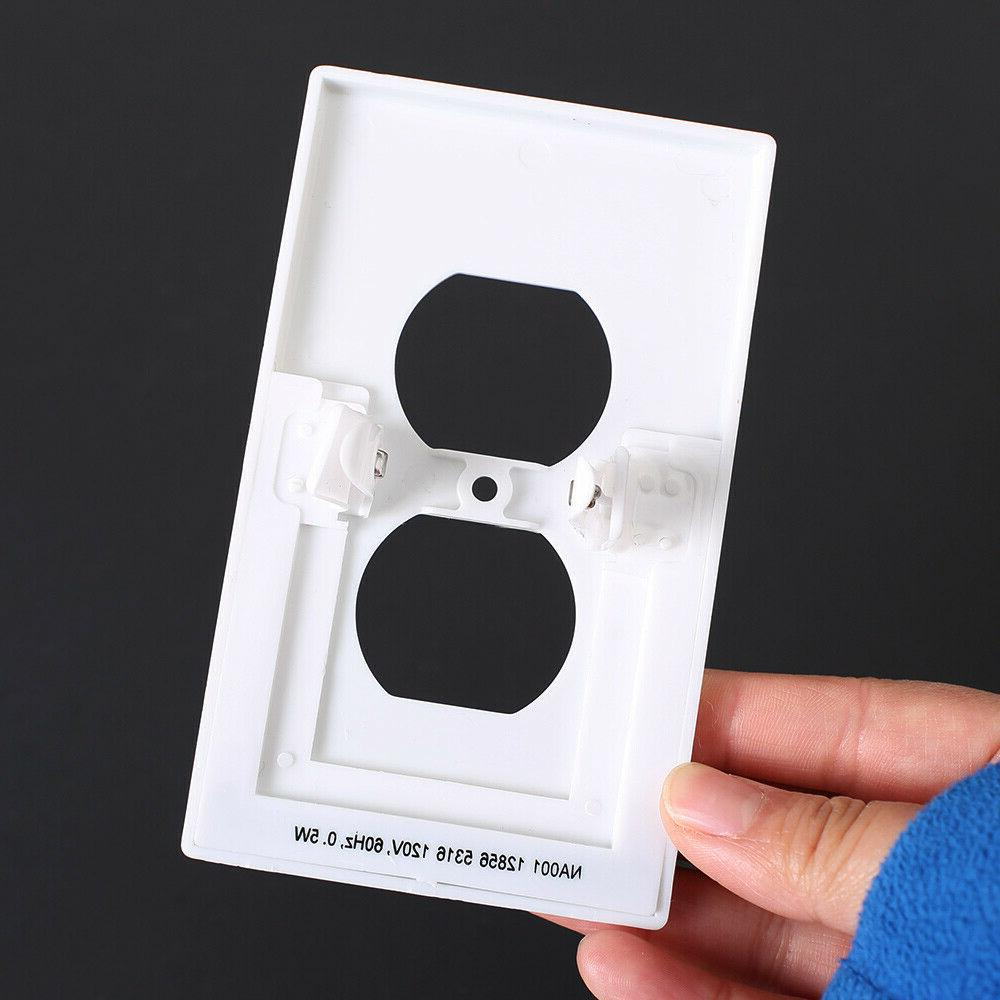 Pack 5 wall plate led lights Cover Duplex light sensor