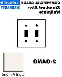 Nylon Double Switch Wall Plate