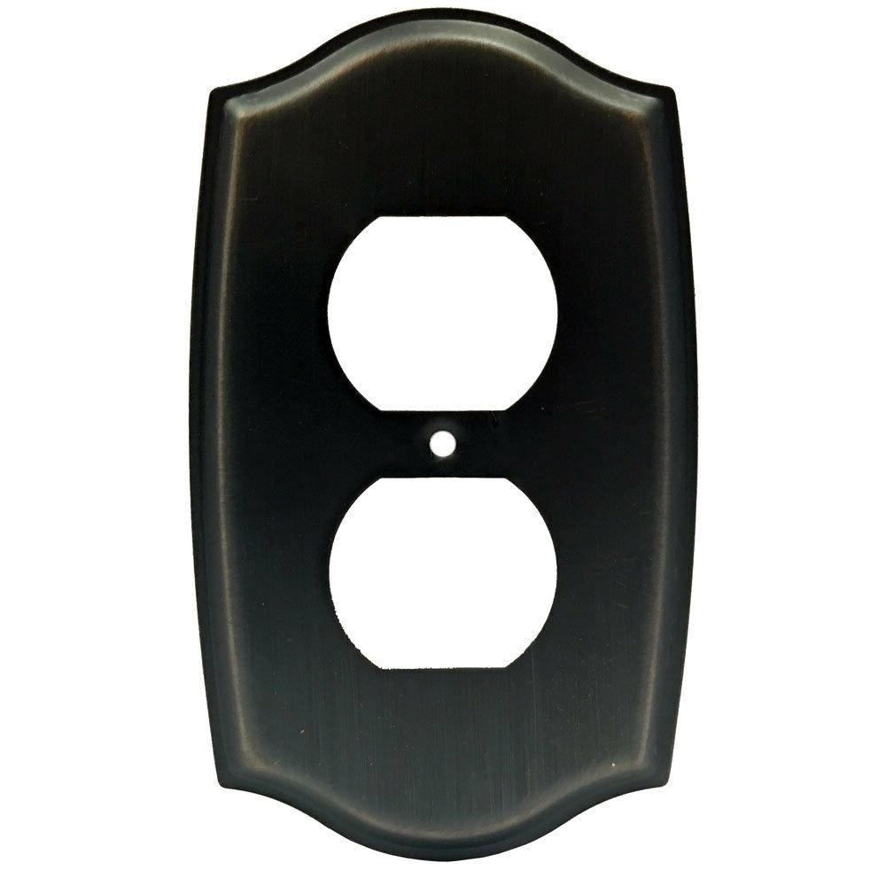 Oil Rubbed Bronze Receptacle Outlet Wall Plate