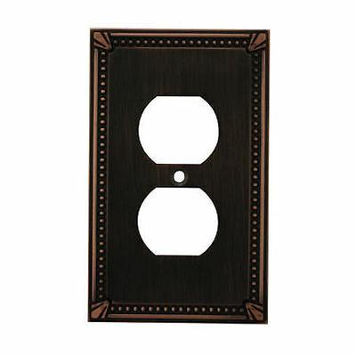 oil rubbed bronze single duplex wall plate