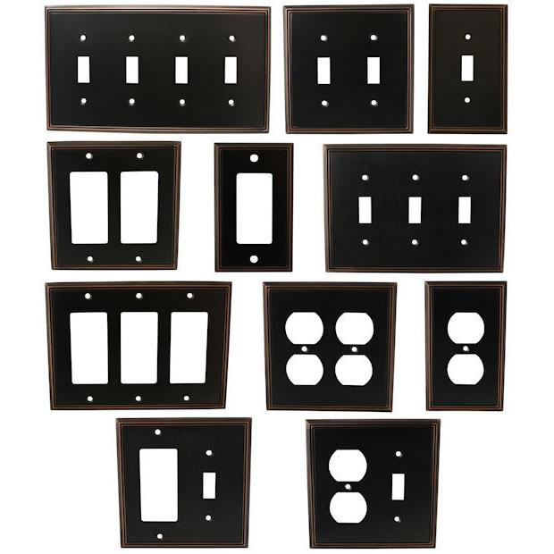 oil rubbed bronze switch wall plate duplex