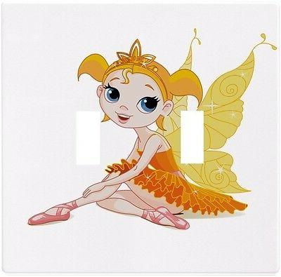 Orange Fairy Wallplate Wall Plate Decorative Light Switch Pl