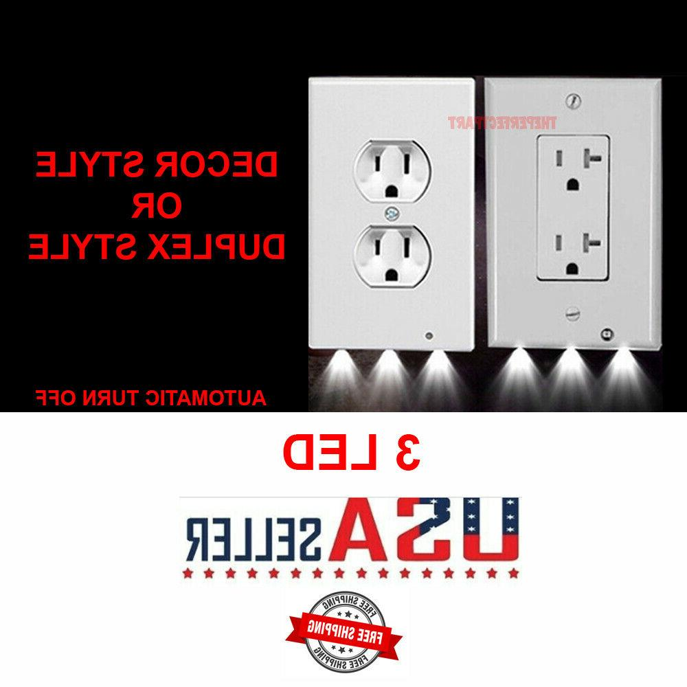 outlet wall plate led night lights cover