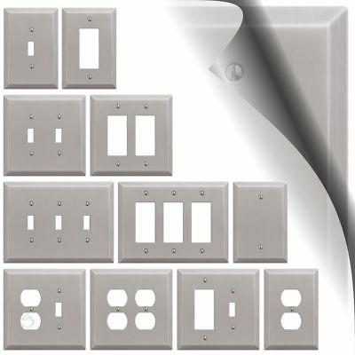 oversized brushed nickel switch plate cover toggle
