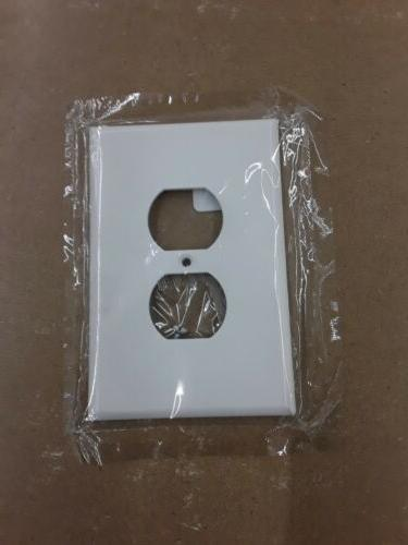 oversized wall plate duplex receptacle white wall