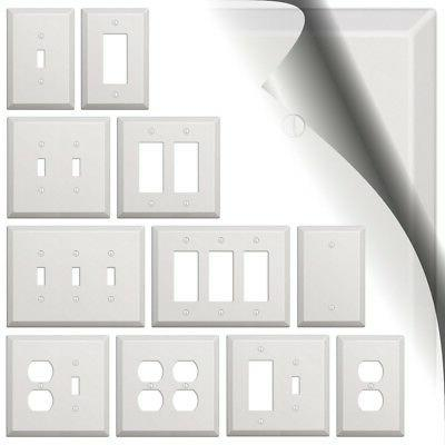 oversized white switch plate outlet cover rocker