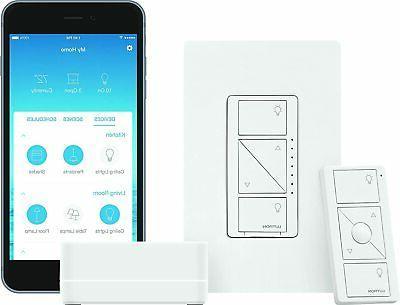 Lutron Caseta Wireless Smart Lighting Dimmer Switch Starter