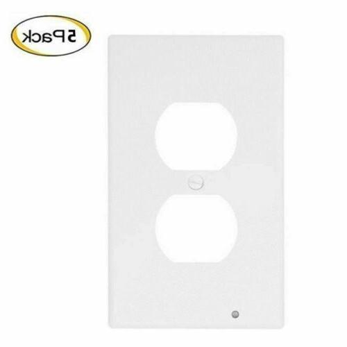 5x Wall Led Cover Duplex Sensor US