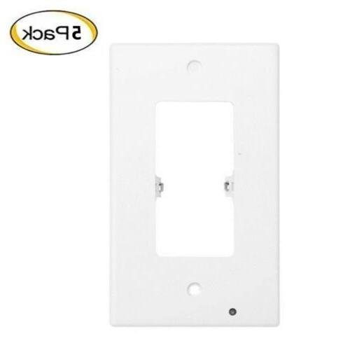 Pack 5 Outlet wall lights Cover light