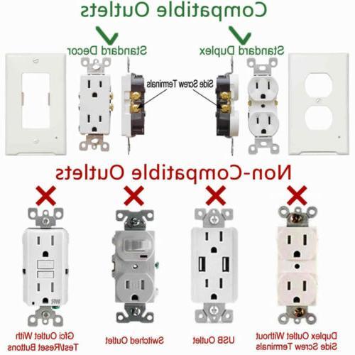 Pack wall plate lights Duplex light sensor
