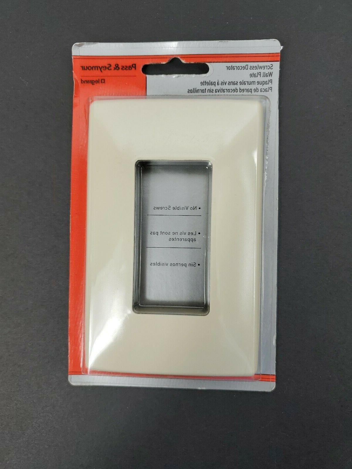 Pass & Seymour Legrand Screwless Decorator Wall Light White NEW