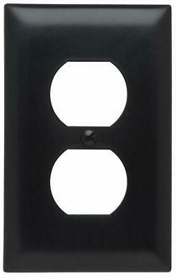 Pass & Seymour TP8BKCC25 Trade Master Nylon Wall Plate with
