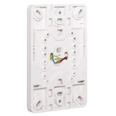 Phone Jack Wall Plate Modular White Surface Mount 4 Wire Flush Telephone