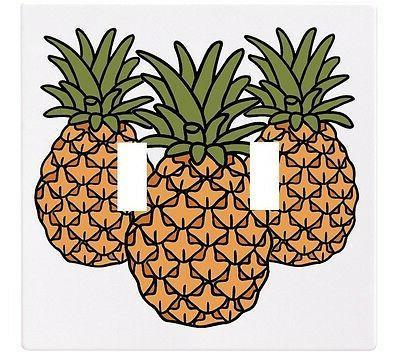 pineapple fruit kitchen wallplate wall plate decorative
