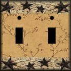 Primitive Pips and Stars Inspired ~ Light Switch Plate Cover