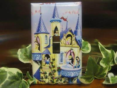 princesses and castle light switch wall plate