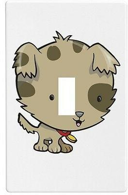 puppy big head wallplate wall plate decorative