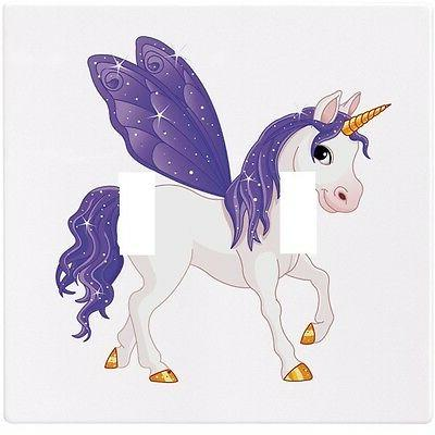 Purple Unicorn Fairytale Wall Plate Decorative Light Switch