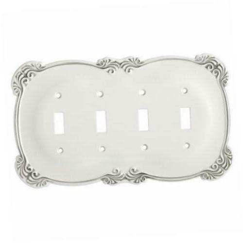 Quad Switch Plate White Arboresque Franklin Brass 144390