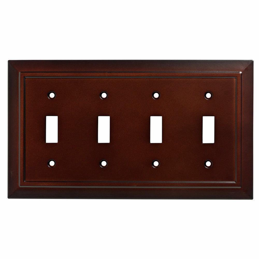quad toggle wall plate architectural espresso w35251