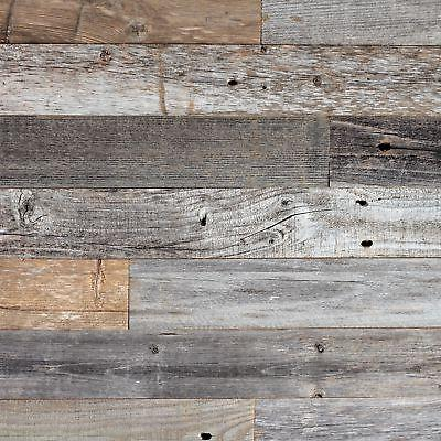Reclaimed Barn Wood Wall Panels Diy L And Stick Easy Installation 10 Sq Ft