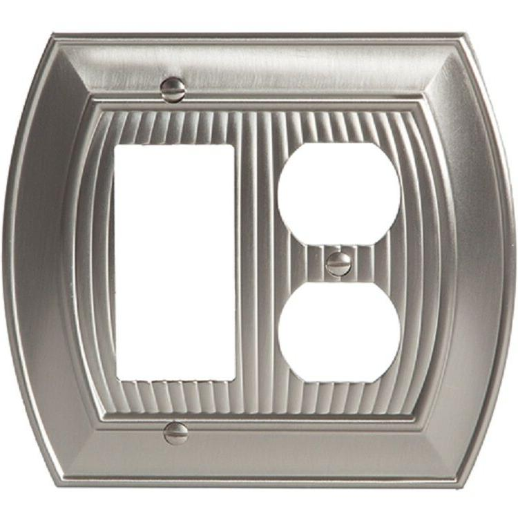 satin nickel wall plate cover toggle rocker