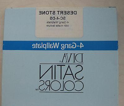 LUTRON SC-4-DS, Wall Plate, 4-Gang Satin Color Screwless Dec