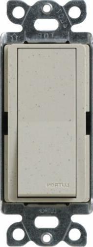 Lutron SC-4PS-ST Diva Satin Colors 15-Amp 4-Way Switch, Ston