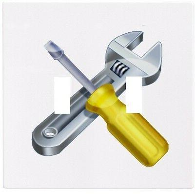 screwdriver wrench tools wall plate decorative light