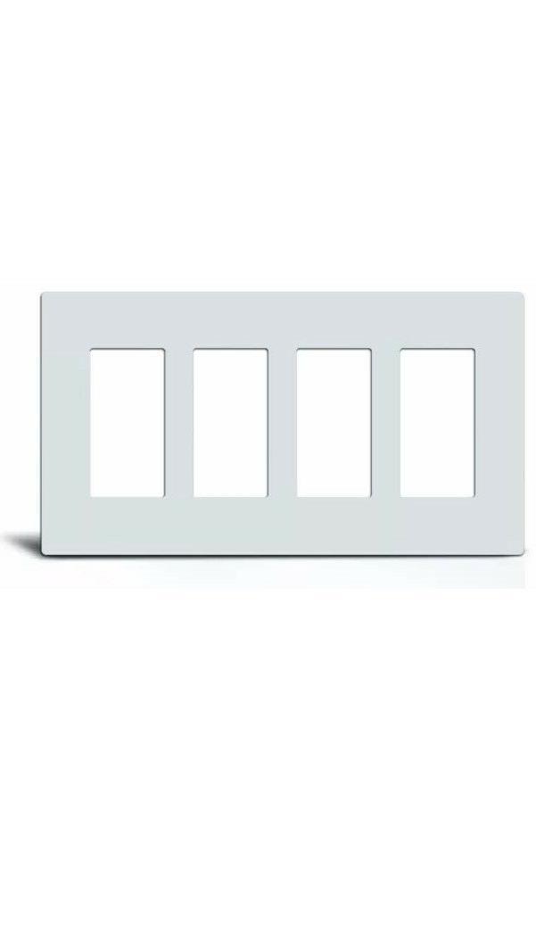 Screwless GFCI Rocker Switch Covers 1-4 White