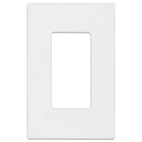Enerlites SI8831-W-10PCS Screwless Wall Plates Outlet 1-Gang Standard White