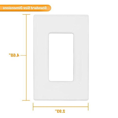 Enerlites SI8831-W-10PCS Wall Child Safe Outlet Size, Unbreakable White
