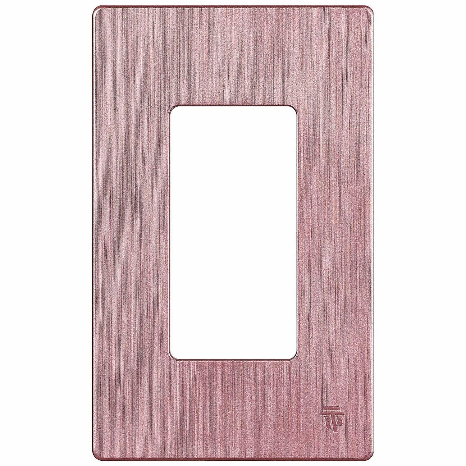ENERLITES Screwless Decorator Wall Plate Outlet Cover Rose G