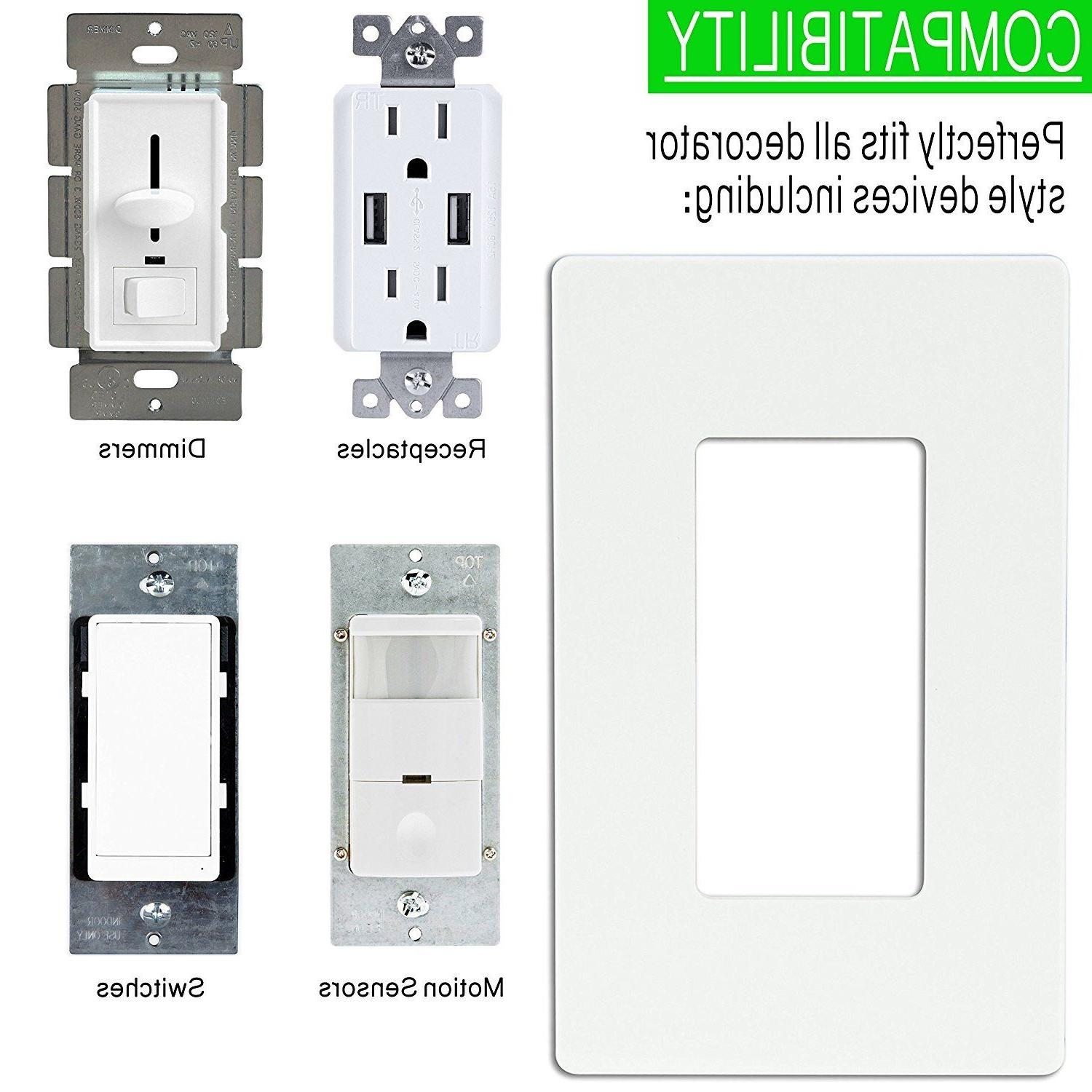Screwless Wall Plate Outlet Switch Decorator GFCI