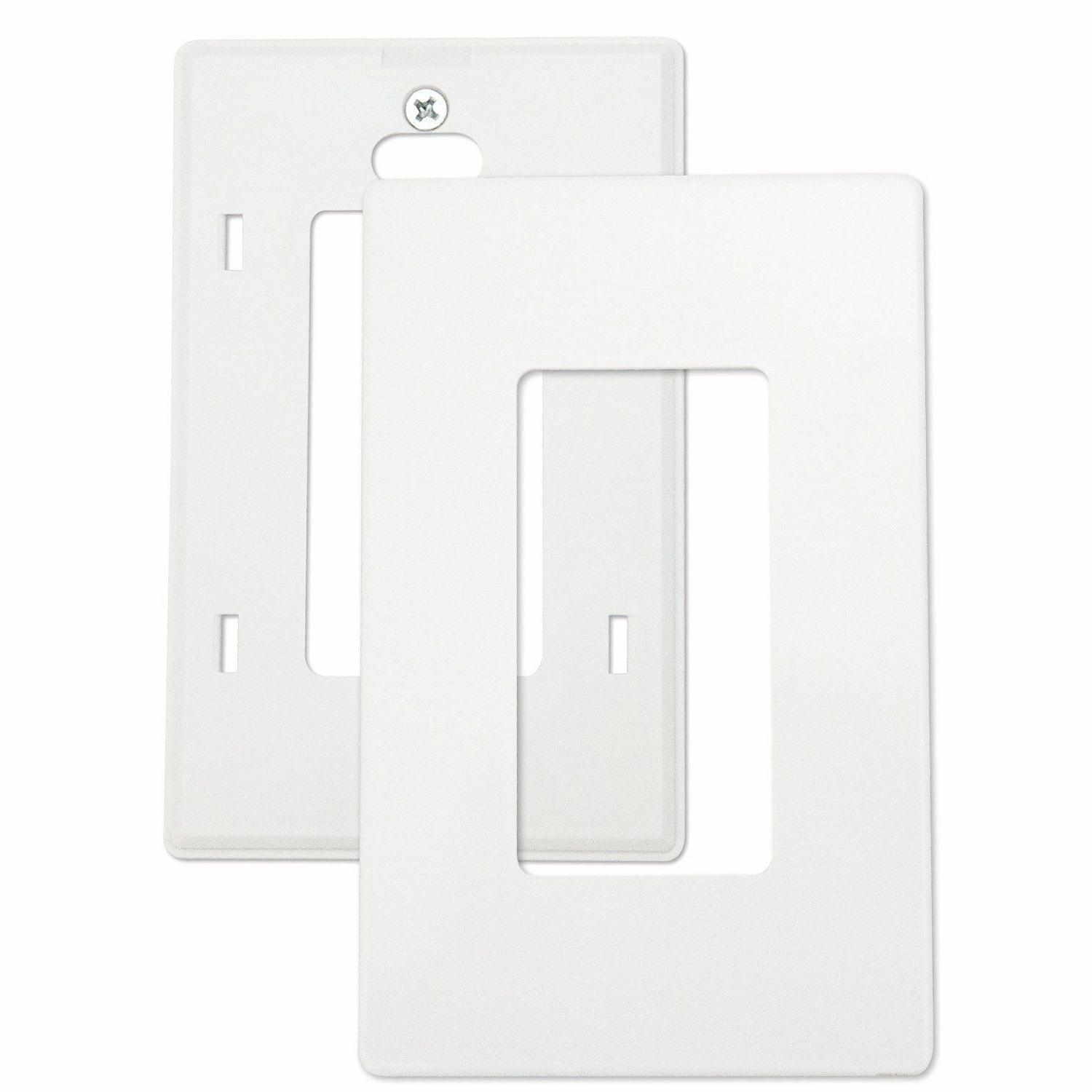 Screwless Rocker Wall Plate Outlet Covers GFCI Gang White