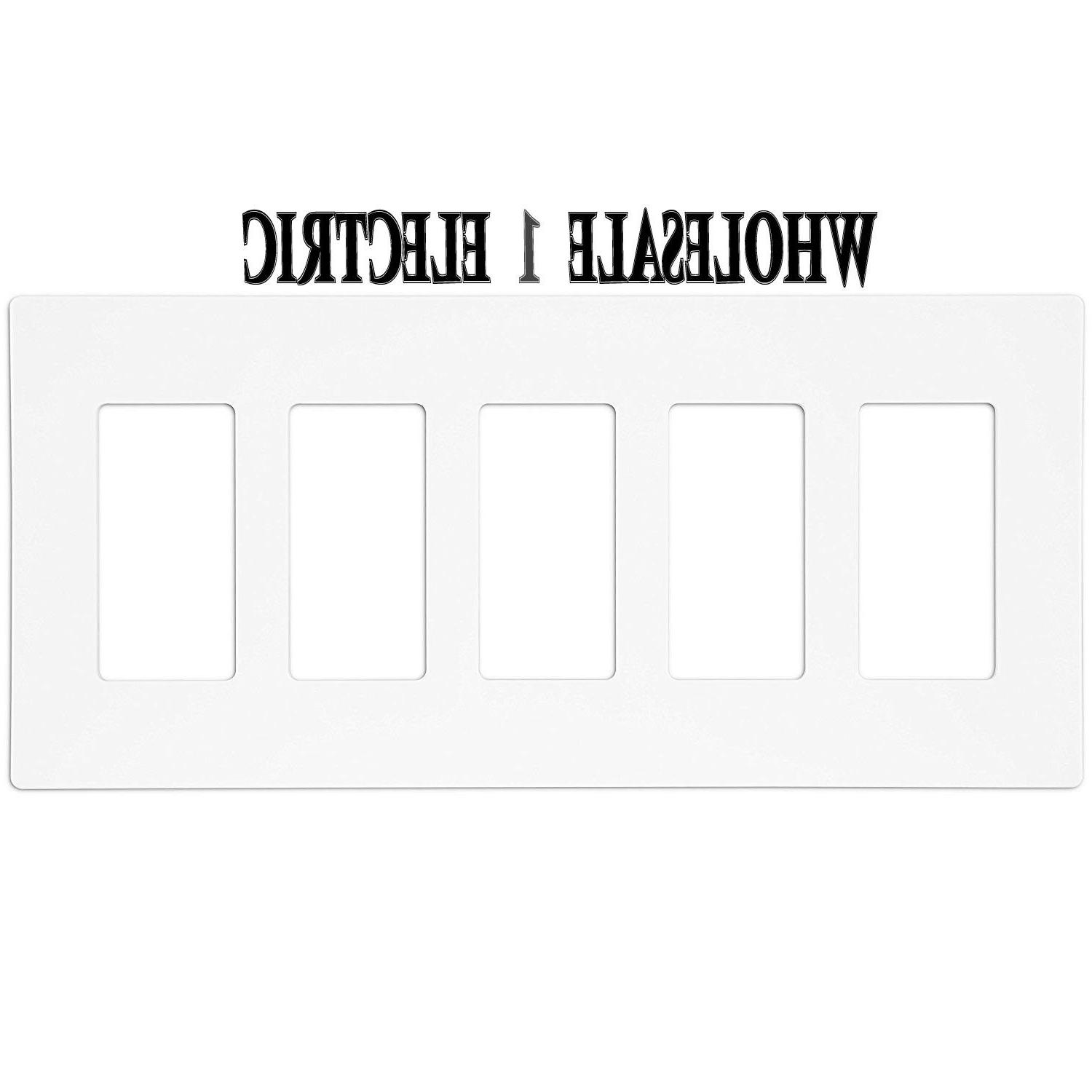 Enerlites Switch Plate Outlet 1 2 3 4 5 White