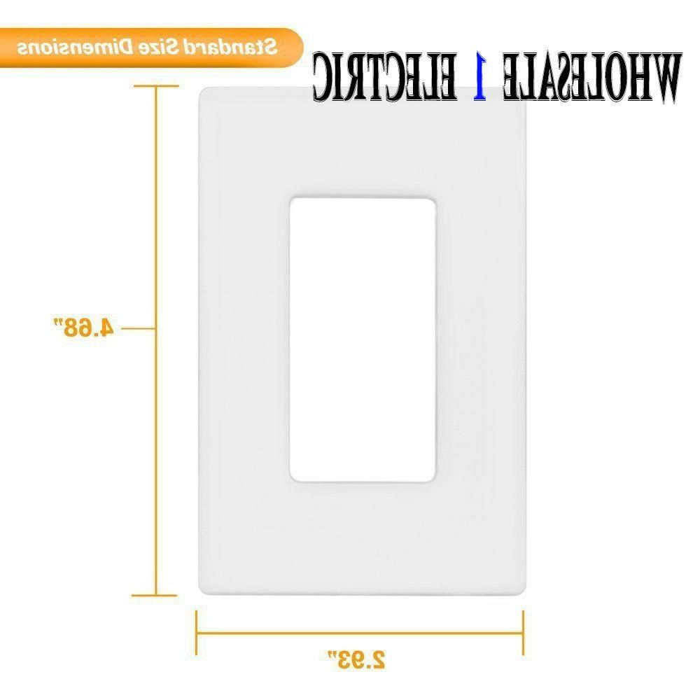 screwless wall switch plate outlet cover 1