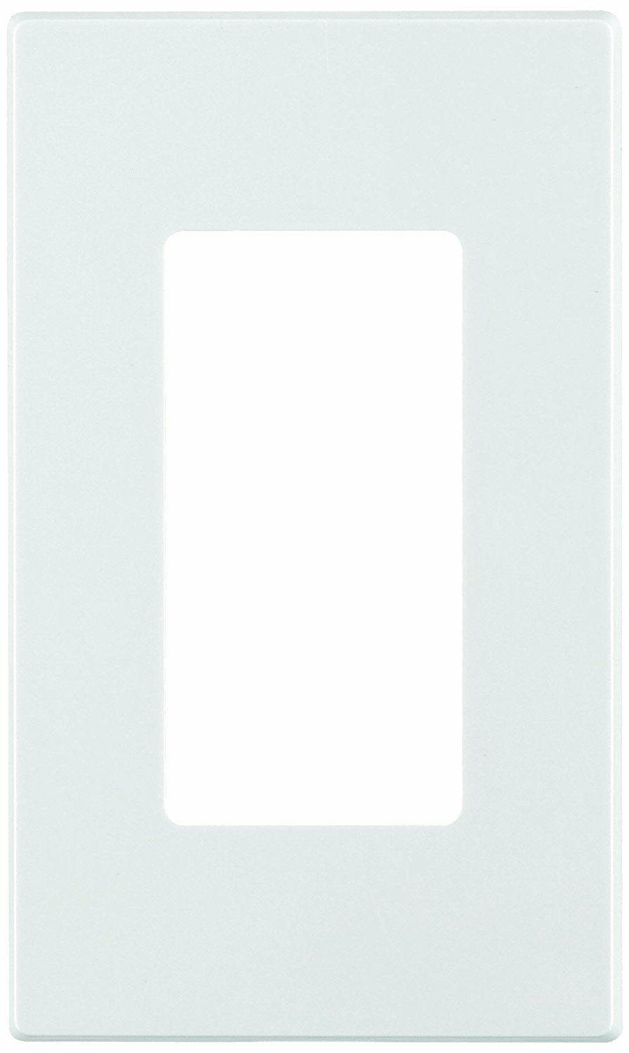 Screwless Wall / Switch Plate Outlet Cover 1-5 Gang | White
