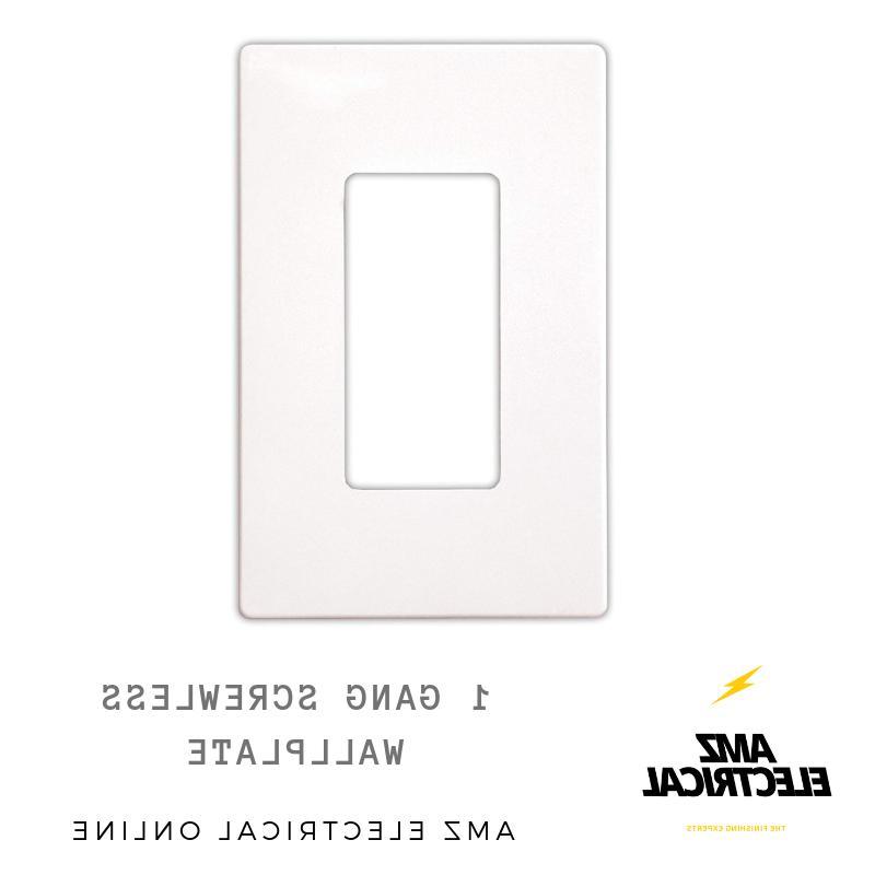 Screwless Wallplate White, Plate