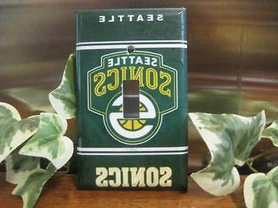 Seattle Sonics Supersonics Light Switch Wall Plate Cover #1