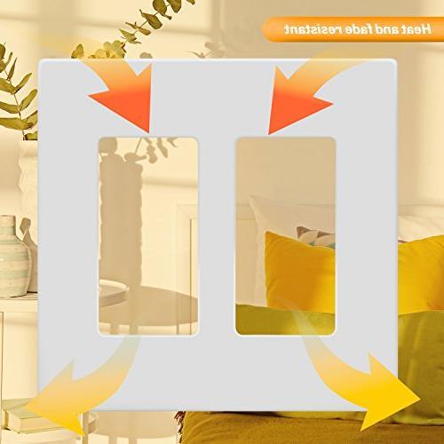 ENERLITES Decorator Wall Plate Safe Cover, Standard 2-Gang,