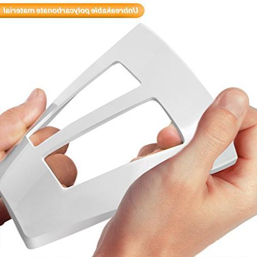 ENERLITES Screwless Standard Size 2-Gang, Thermoplastic, White