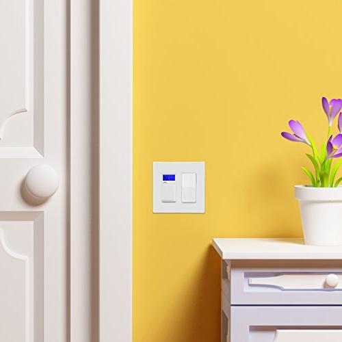 ENERLITES Wall Plate Standard 2-Gang, Thermoplastic, White