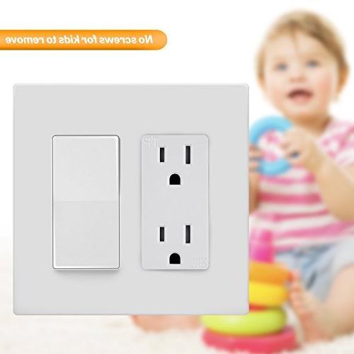 ENERLITES Screwless Wall Plate Safe Standard Size Polycarbonate
